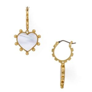 NWOT Tory Burch Semi-Precious Heart Charm Earring